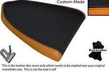 BLACK & ORANGE CUSTOM FITS APRILIA RSV RSVR 1000 04-08 REAR LEATHER SEAT COVER