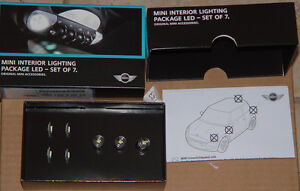 Mini Cooper OEM LED 7 Piece Interior Light Package Bulb Upgrade Kit R57 R58 R59