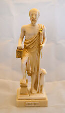 Diogenes the Cynic Alabaster sculpture Ancient Greek patina aged statue