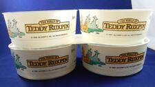 Wendy's Teddy Ruxpin Plastic Bowls 1985 Lot of 4 Vintage