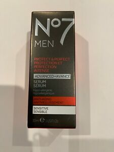 Boots No7 Men Protect & Perfect Advanced Protection Serum Anti-Aging 1 Oz. NEW