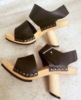 New Trippen Sandals Wood Leather Hopper eur 36 us 6