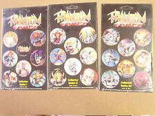 PHANTOM FORCE SERIES 1, 2, and 3 POGS CARDED 3x6 SHEETS  COMPLETE SET OF (18)