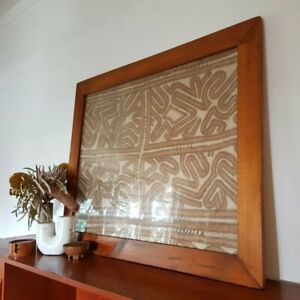 Large Vintage Tapa Bark Cloth Piece From PNG Oro Province