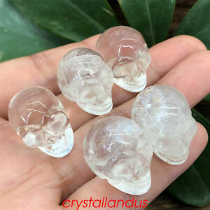 5pcs Natural clear quartz mini skull quartz crystal skull carved reiki healing