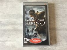 PSP Medal Of Honor heroes 2 Platinum UMD PLAYSTATION SONY PAL FR COMPLET
