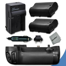 PRO Battery Grip for Nikon D600 DSLR Camera + 2 EN-EL15 Batteries + Charger