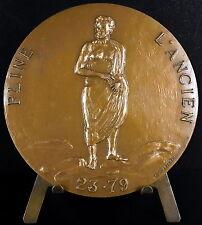 Médaille Gaius Plinius Pline l'Ancien Naturalis Historia Pliny the Elder medal