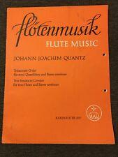 Flötenmusik Flute Music Johann Quantz Noten Querflöte Basso Continuo Bärenreiter