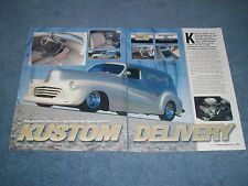 """1948 Chevy Sedan Delivery Custom Street Rod Article """"Kustom Delivery"""""""