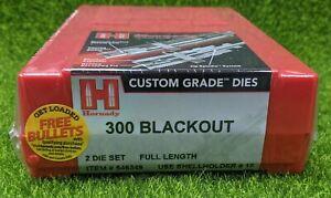 Hornady 300 Blackout Custom Grade Reloading 2-Die Set Full Length - 546349
