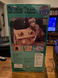 Dura-Craft Wooden Dollhouse Kit OREGON TRAIL WOOD LOG CABIN #OR177 Open Box VTG