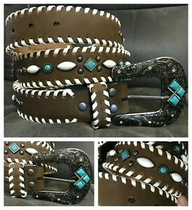 New Nocona ladies western belt, sz XL