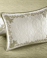 Martha Stewart Standard Pillow Sham Collector's Aloha Cotton Cream/Green D9Z044