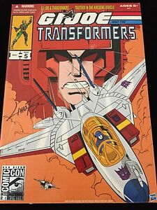 G.I. JOE AND THE TRANSFORMERS HASBRO ISSUE 5 36915 SIGNED * MOVIE *