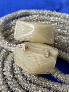 1920s Czech Glass Flapper Gatsby Necklace Belt Clear Seed Bead For Spare Repair
