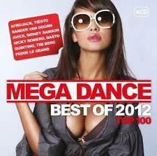 MEGA DANCE BEST OF 2012 TOP 100 4 CD NEW+ CASCADA/AFROJACK/TIESTO/AVICII/+