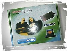 ALIMENTATORE UNIVERSALE 96W SWITCHING regolabile da 12V a 24V per Notebook AC/DC
