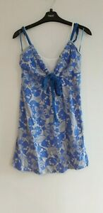 Gorgeous Blue & Grey Tie Front Vest Top Camisole from Next - Size 10 - Great!