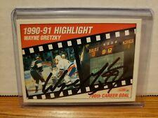 1991 Score Highlight Hockey Card #413 Wayne Gretzky signed COA