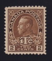 Canada Sc #MR4 (1916) 2c+1c brown Admiral War Tax Die II Mint VF NH