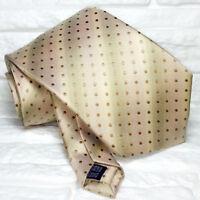 Luxus  Krawatte beige Made in Italy  Seide Jacquard TRE marke VP € 40