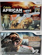 NEW Cabela's African Adventures & Dangerous Hunts 2013 Wii/Wii-U Game Bundle Set