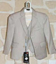 Veste et gilet de costume beige taille 2 ans neuf marque Maxi & Marc