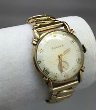 1953 Bulova Men's Wristwatch 10BM 21 Jewels 10K Gold Filled Case RUNS
