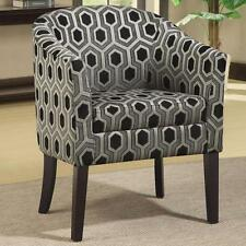 Hexagon Patterned Chenille Fabric Accent Chair with Wood Legs by Coaster 900435