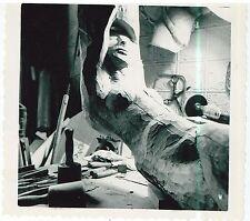 Vintage 1950s  B&W Snapshot of Alfred Van Loen's Sleeping Angel Signed with note