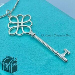 "Tiffany & Co. 925 Silver 2.5"" Knot Key Pendant 20"" Necklace (pouch)"