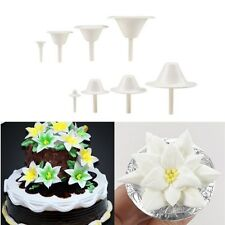 8Pcs Cake Cupcake Stand Icing Cream Flower Nails Set Sugarcraft Decorating Tool