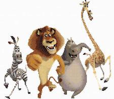 Madagascar 2 puntada cruzada contada Kit de personajes de la película de Disney