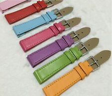 New 1PC 12/14/16/18/20/22/24mm PU Watch Band Buckle Strap Wristwatch Bands Solid