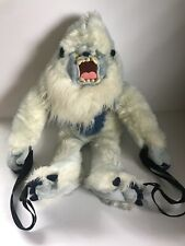 "Disney Yeti Abominable Snowman Plush Backpack Disneyland 22"""