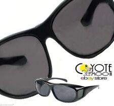 Polarisé lunettes de soleil Overglasses s'adapte sur lunettes uv 400 protection noir