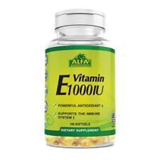 Alfa Vitamin, Vitamin E 1000 IU - 100 Softgels each bottle
