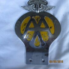 Automotive Club Badges Vehicle Parts & Accessories Provided Original Vintage Classic Aa Car Badge Silver Yellow Metal Automobilia Ture 100% Guarantee