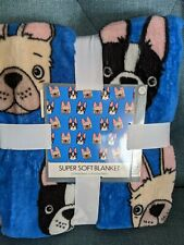 Frenchie Fleece Blanket50 x 60 inches