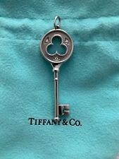 Tiffany's Platinum & Diamond Pendant Key Necklace - Guaranteed Authentic