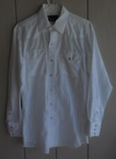 Mens 16-34 Panhandle Slim White Snap Front Long Sleeve Western Shirt Chest 46""