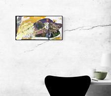 MY COUNTRY Orange Surfing Collage Monkey Painting - Steven Tannenbaum TAO-E