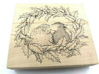 Stampa Rosa Holiday Smooch Mounted Rubber Stamp House Mouse 1998