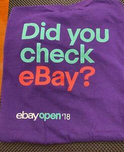 eBay OPEN'18   PURPLE T-SHIRT   Large