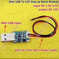 Mini USB 1.5V-6.5V 5V to 12V DC-DC Step Up Converter Power Supply Boost Module