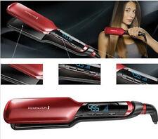 "NEW 2017 Remington S9620 Silk Ceramic 2"" Digital Hair Flat Iron Straightener Red"