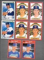 1990 U.D. #734 Nolan Ryan Error & 1990 DONRUSS Nolan Ryan Errors 4 + 3 Cards