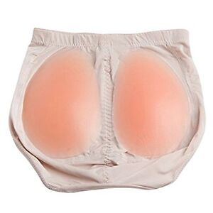 SILICONE BUTTOCKS PADS PADDED PANTS BUM BUTT HIP KNICKERS FAKE SIZE ENHANCER