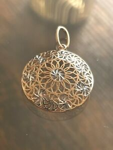 Solid 585 russian rose gold pendant 14ct 14k rose gold pendant